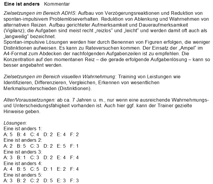 Eugen Traeger Verlag Therapie- und Lernsoftware, Materialien zum ...